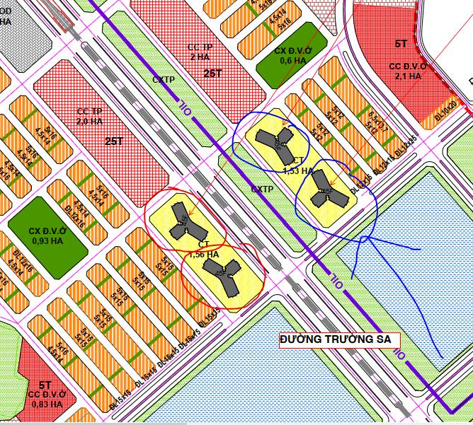 Thiết kế shop khối đế Vinhomes Cổ Loa view thoáng nhờ layout tòa chung cư hình kiềng 3 chân