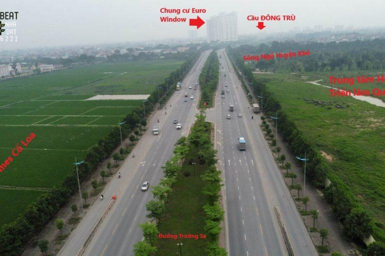 Kết nối hạ tầng giao thông tại Vinhomes Cổ Loa hiện tại - đường Trường Sa